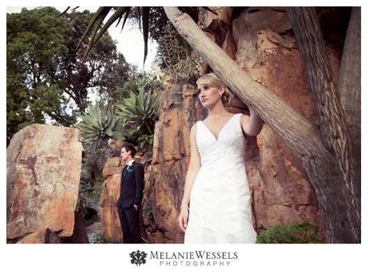 wedding couple at shepstone gardens