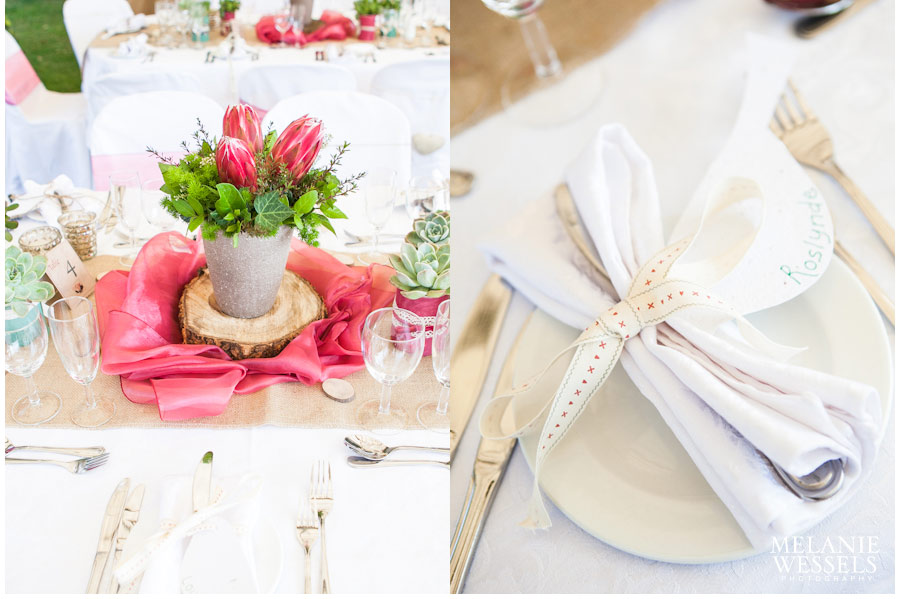 protea themed wedding